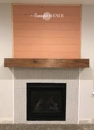 easy diy wood mantel remington avenue
