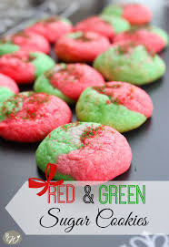 red u0026 green sugar cookies the rustic willow