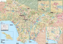 los angeles map pdf los angeles bike map indiana map