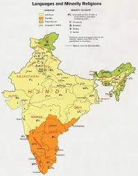 India Map Blank With States by India Languages Map Maps Of India