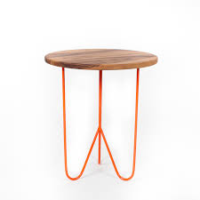 Orange Side Table Black Walnut Side Table Orange Woolsey Furniture