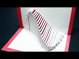 how to make a wave pop up card free template kirigami 3d