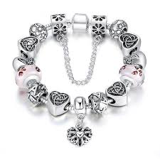 heart bracelet charms images Heart letter crystal glass bracelet berazo jpg