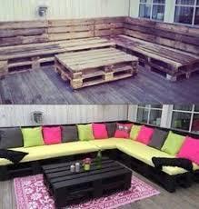 canapé exterieur palette fabrication d un salon de jardin en palettes pallets outdoor