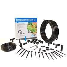 dig raised bed garden drip irrigation kit ml50 the home depot