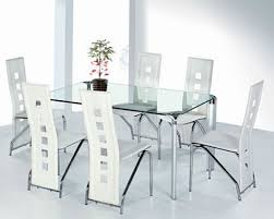 Appealing Contemporary Glass Dining Tables And Chairs  For - Glass dining room