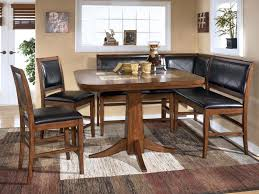dining room dining room table corner bench set ashley crofton