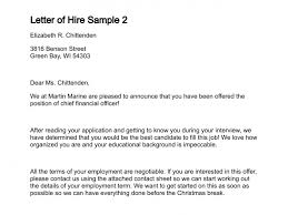 letter of hire