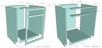 how to build a 36 inch base cabinet how to build base cabinets houseful of handmade
