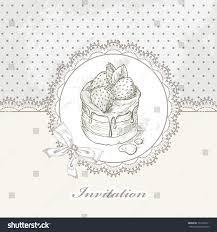 Background Invitation Card Vintage Cake Background Invitation Card Sweet Stock Vector