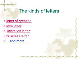 unit one writing a personal letter welcome what kind of letter