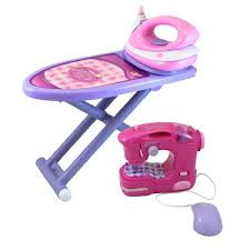 Kitchen Set Toys For Girls Amazon Com Girls Ironing And Sewing Set With Toy Iron Functional