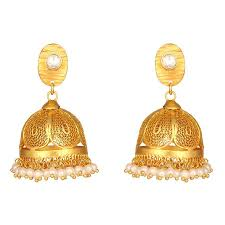 jhumka earrings golden indian pearl jhumka earrings by mirrorwhite silver