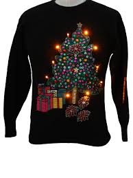 mens light up ugly christmas sweater womens lightup ugly christmas sweater spree womens black