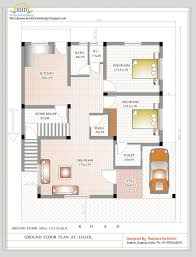 duplex house plan and elevation sq ft home appliance square foot