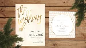 wedding invitations ireland gold foil wedding invitations ballymena day print