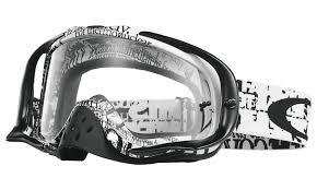oakley motocross goggles oakley crowbar mx tagline black white clear buy cheap fc moto