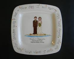 personalized serving platter ceramic personalized wedding plate painted ceramic wedding