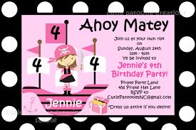 pink birthday invitations pirate birthday invitation pirate pink birthday party