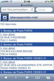 bureau banque postale la banque postale banques en ligne mobile