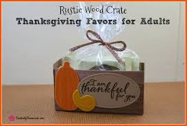 rustic wood crate thanksgiving favors for adults creatively
