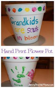 personalized flower pot handprint flower pots