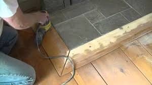 Stain Wood Floors Without Sanding by How To Orbital Sand A Pre Finished Wood Floor Youtube