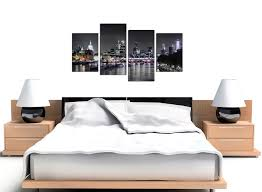 Bedroom Wall Panels Uk Canvas Wall Art Of London Skyline For Your Living Room 4 Panel