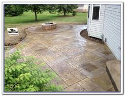 Stamped Concrete Patio Maintenance Stamped Concrete Patio Designs Patios Home Furniture Ideas