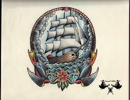 tattoo flash ship by tausend nadeln on deviantart