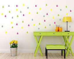 Wall Decals Patterns Color The by Online Shop Colorful Raindrop Vinyl Wall Stickers Removable