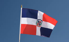 Flag Of The Dominican Republic Hand Waving Flag Dominican Republic 12x18