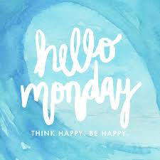 hello monday quote think happy be happy watercolor