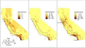 california map population density maps of california highlighting population and expendit open i