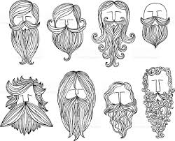 men with different style of mustache stock vector art 451291685