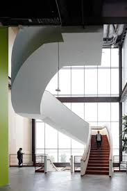 frank gehry drywall clad stair at facebook building 20 not a