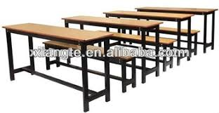 metal frame table and chairs laminated top metal frame double student desk and chair set