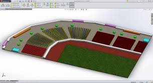 stadium floor plan world cup simulating stadium foot traffic in solidworks