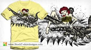 vintage pin up with crocodile vector t shirt design vector t
