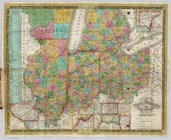 Map Of Ohio And Indiana by Ohio Indiana Illinois And Michigan David Rumsey Historical Map