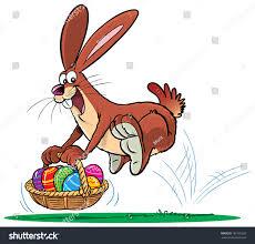 easter bunny bucket eggs stock vector 180103205 shutterstock