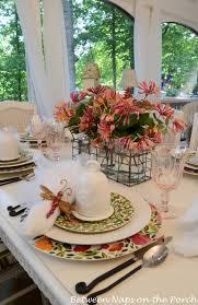 table settings for springtime