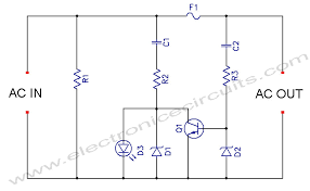 led blown ac fuse indicator circuit diagram electronic circuits