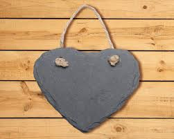 slate shapes with jute hanger 4 7 assorted