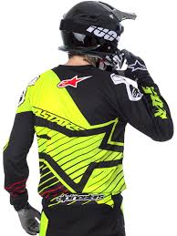 black motocross gear alpinestars fluorescent black 2017 racer braap mx jersey ebay
