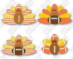 thanksgiving football turkey svg cut file set for custom football