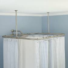 ceiling mounted shower curtain track system home design ideas