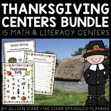 thanksgiving centers by jillian teachers pay teachers