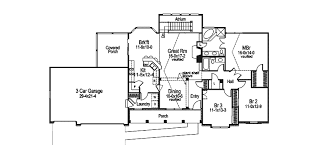ranch house plans open floor plan foxbury atrium ranch lovely home plan 007d 0010 house plans and more