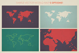 World Map Malta Showing Malta by Simple World Map Illustrations Creative Market